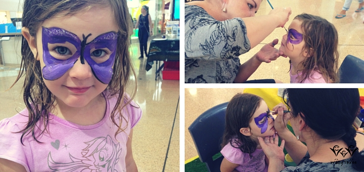 Face Painting A Butterfly